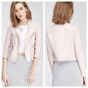 Size Small Pink faux leather jacket